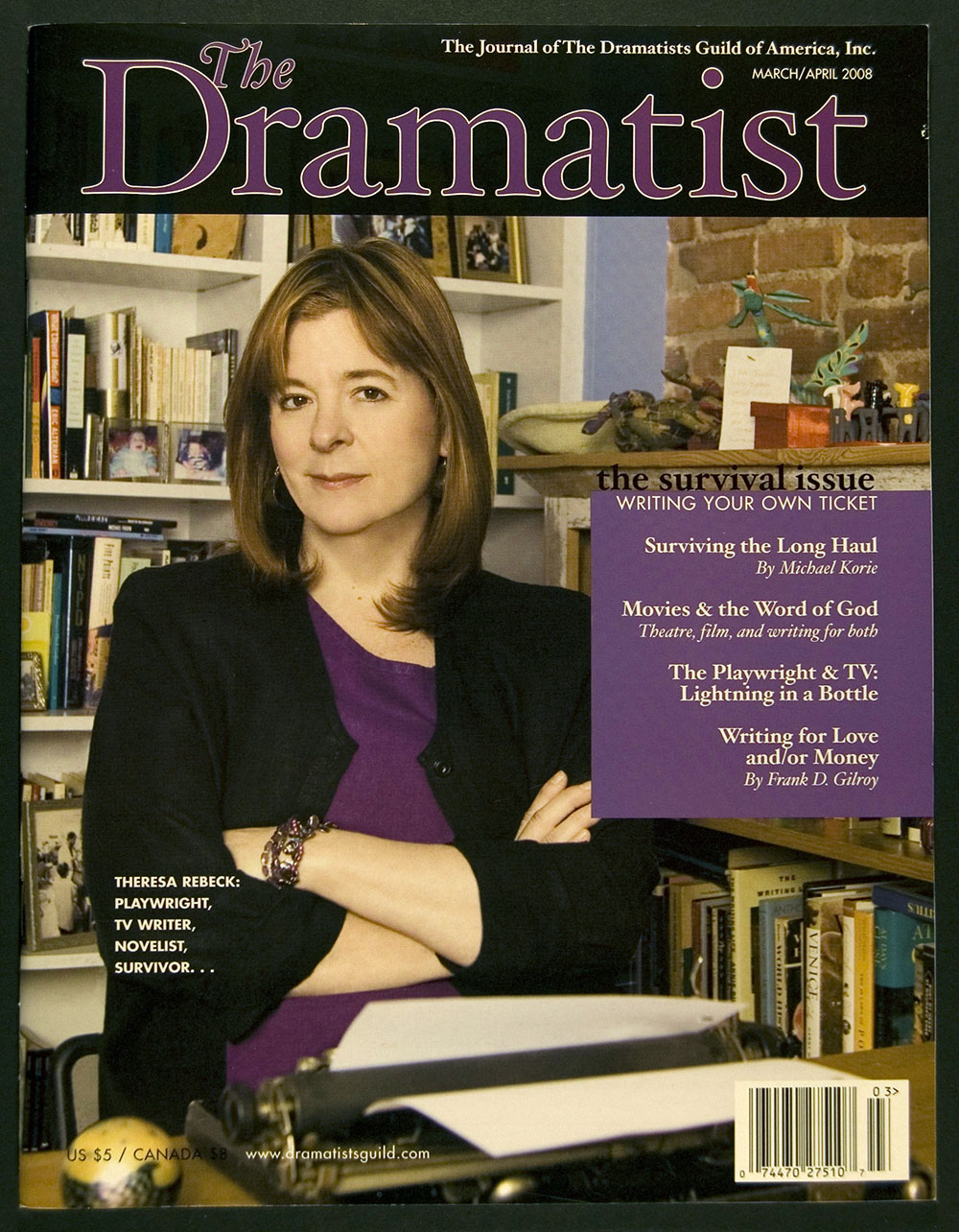 The Dramatist: the Journal of the Dramatists Guild of America, March/April 2008
