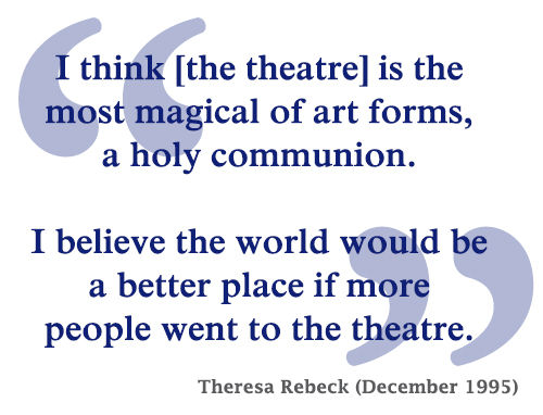 "Quotation from ""Frontlines: Why I write for Television,"" American Theatre, December 1995"