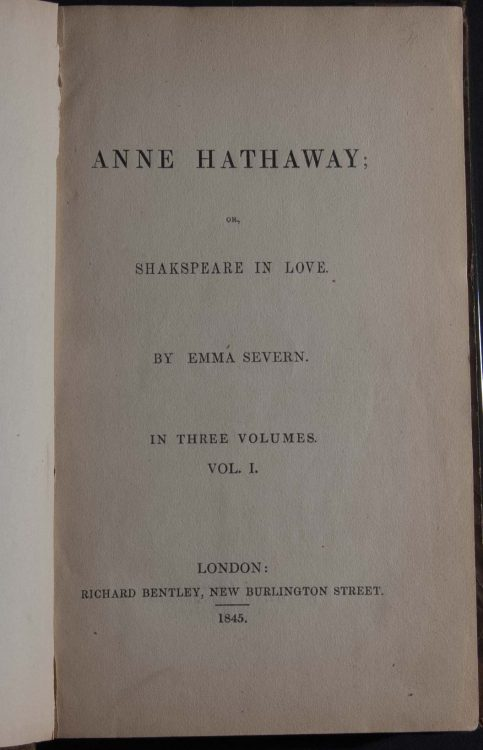 Anne Hathaway, or, Shakspeare in love