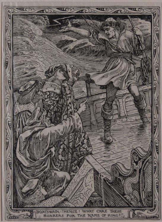 """""""Boatswain – Hence! What care these roarers for the name of king?"""" – Eight illustrations to Shakespeare's Tempest"""