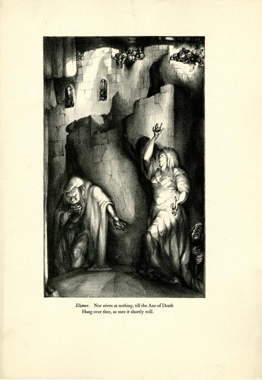 Elianor: Nothing stirre at nothing, til the Axe of Death…