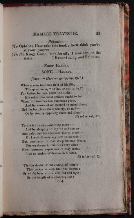 Hamlet travestie in three acts