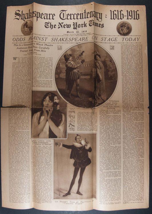 Shakespeare Tercentenary: 1616 – 1916