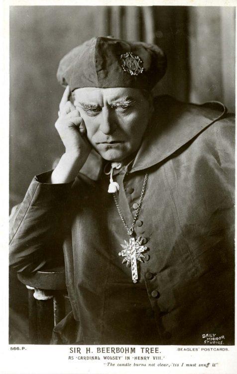 Sir H. Beerbohm Tree, as 'Cardinal Wolsey' in Henry VIII