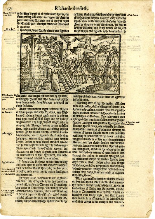 The Firste Volume of the Chronicles of England, Scotlande, and Irelande: Conteyning, the Description and Chronicles of England, from the First Inhabiting Vnto the Conquest. the Description and Chronicles of Scotland, from the First Originall of the Scottes Nation, Till the Yeare of Our Lorde. 1571. the Description and Chronicles of Yrlande, Likewise from the Firste Originall of That Nation, Vntill the Yeare. 1547. Faithfully Gathered and Set Forth