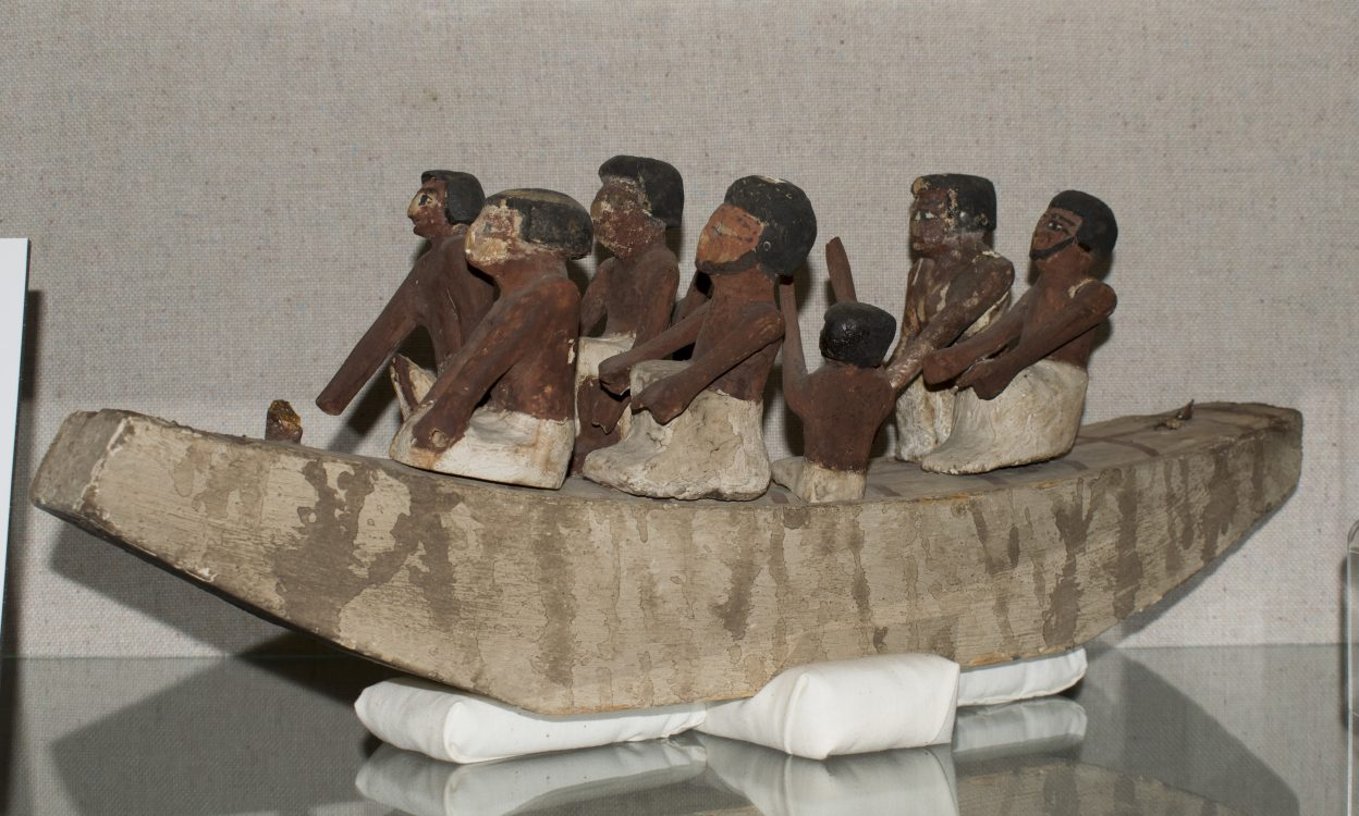 Forgery of an Ancient Egyptian Wooden Funerary Boat Model, [No earlier than circa 1834]– Museums Collections