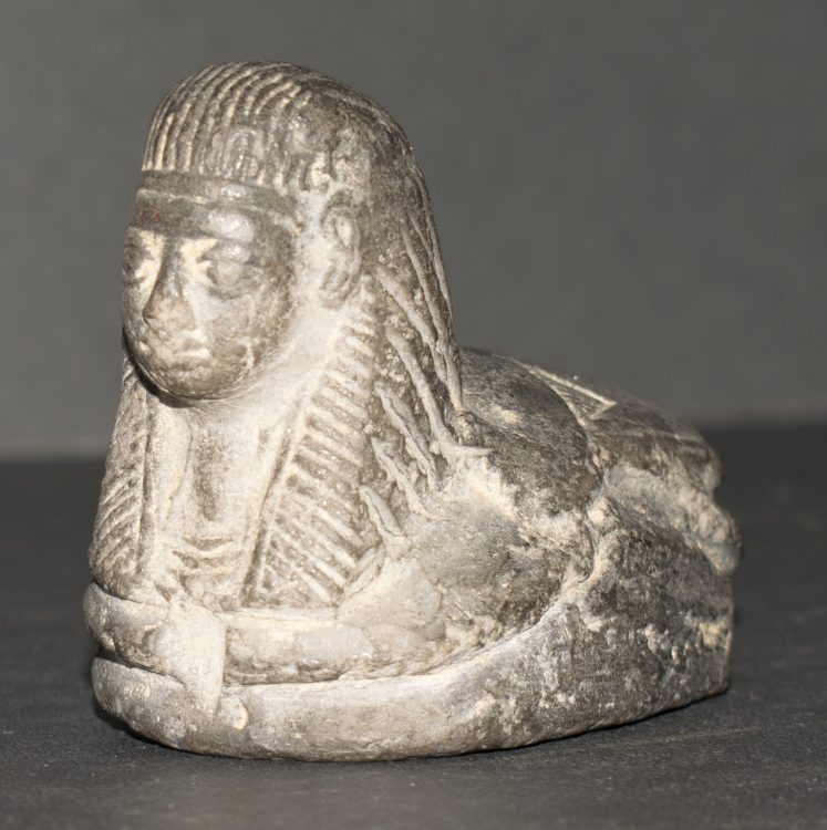 Sphinx scarab seal, forgery of an ancient Egyptian artifact