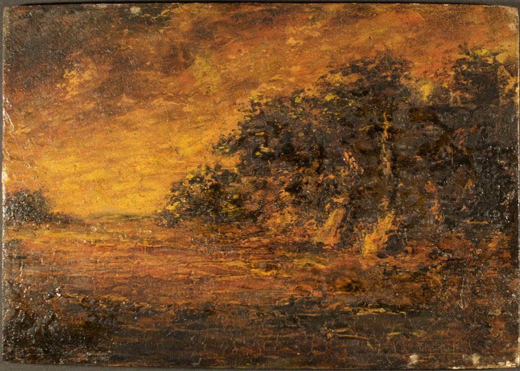 Evening – Forgery of Ralph Albert Blakelock (1847-1919)