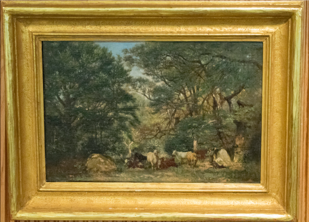 Watching Cattle–Possible Forgery of Théodore Rousseau (1812-1867)