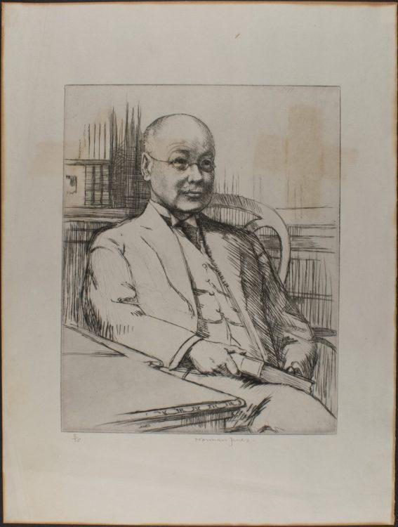 Thomas J. Wise, printed etching– Norman James
