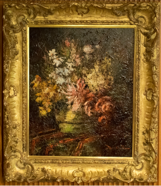 Untitled (still life with flowers)–Forgery of Adolphe Monticelli (1824-1886)