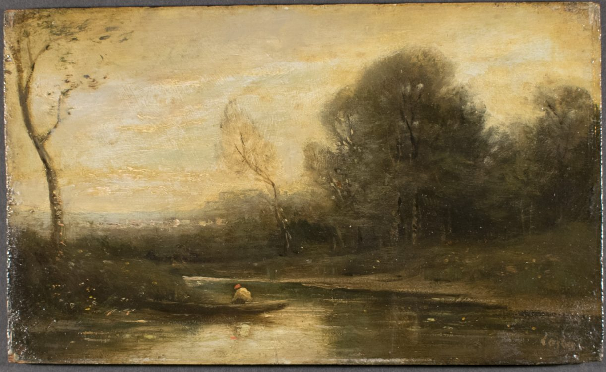 """""""Landscape Sketch""""–Probable forgery of Jean-Baptiste Camille Corot (1796-1875)"""