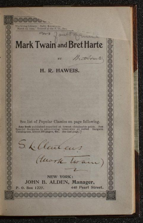 Mark Twain and Bret Harte