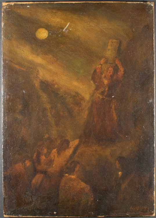 Moses Breaking the Tablets of the Law–Forgery of Albert Pinkham Ryder (1847-1917)