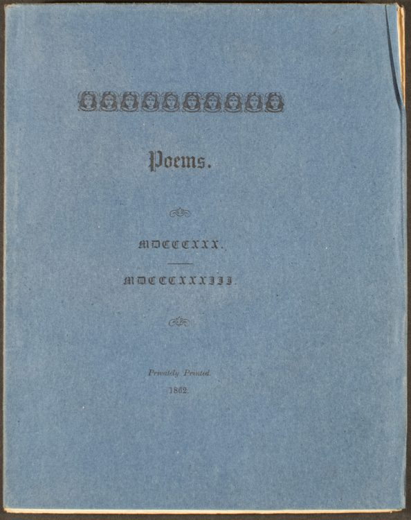 Poems. MDCCCXXX – MDCCCXXXII– Alfred Tennyson (1809-1892)