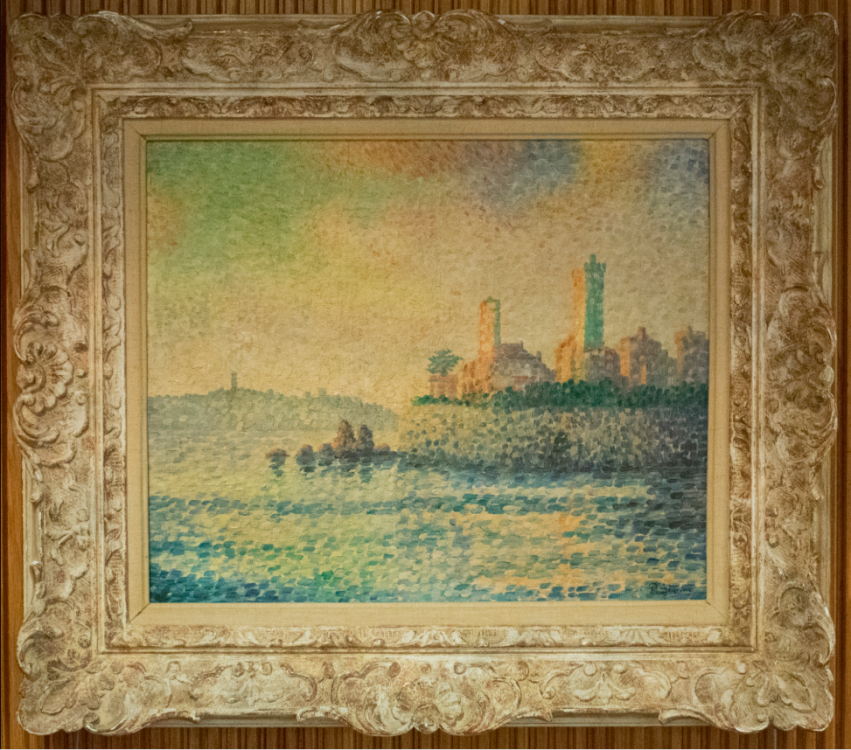 View of a Harbor–Forgery of Paul Signac (1863 – 1935)