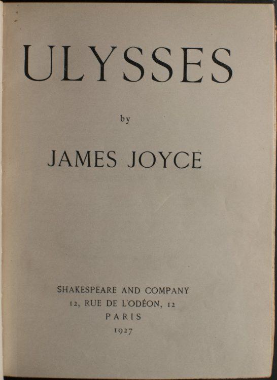 Ulysses– James Joyce (1882-1941)