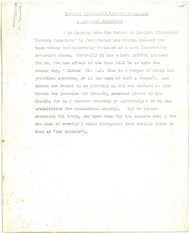 """""""Wise's Suppressed Statement, 19 July 1934. A Xerox Replica."""""""