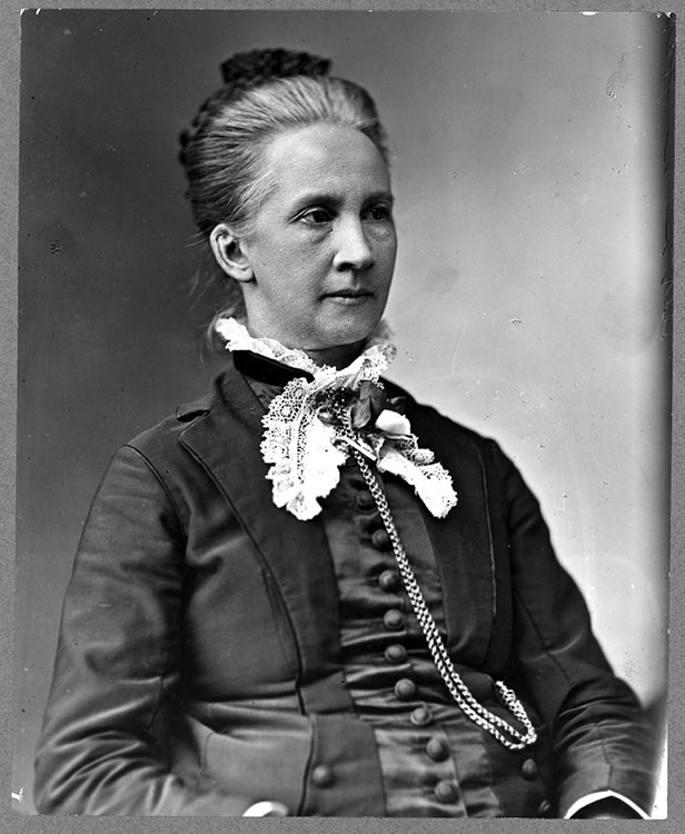 Lawyer Belva Lockwood, half-length portrait, seated, facing right, between 1880-1890 Brady-Handy collection Facsimile image courtesy of Library of Congress