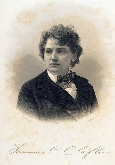 Portrait of Tennie Claflin. Tennie C. (Tennessee Celeste) Claflin (1845-1923) Constitutional Equality a Right of Woman … . New York : Woodhull, Claflin, & Co., 1871