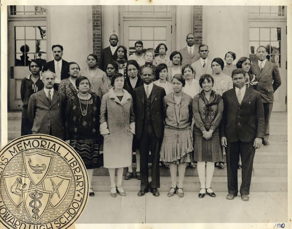 Photograph of Howard High School staff, circa 1930. Facsimile image courtesy of Howard High School Alumni Association