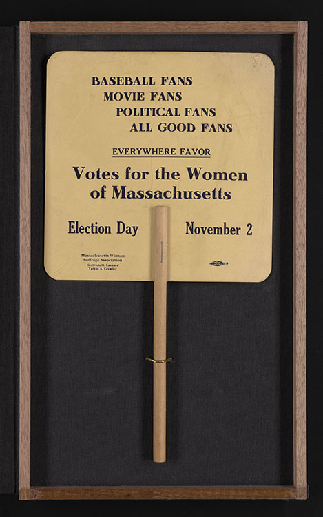 Massachusetts Woman Suffrage Association. Fan, 1915. Woman Suffrage Collection