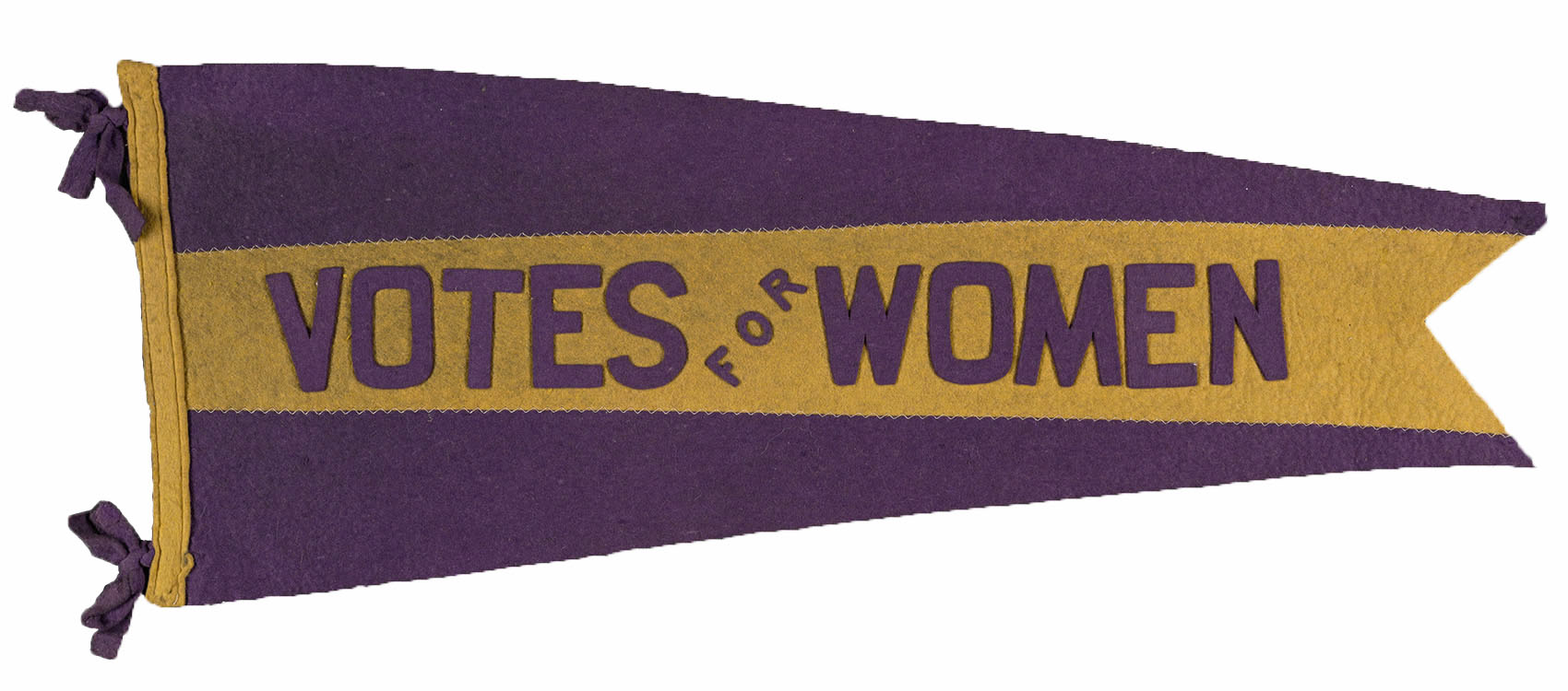 """Votes for Women"" [purple and gold felt pennant], undated. Woman Suffrage Collection"