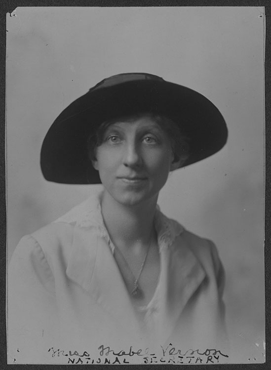 Miss Mabel Vernon, National Secretary, National Woman's Party [photograph], circa 1917.  Records of the National Woman's Party Facsimile image courtesy of Library of Congress