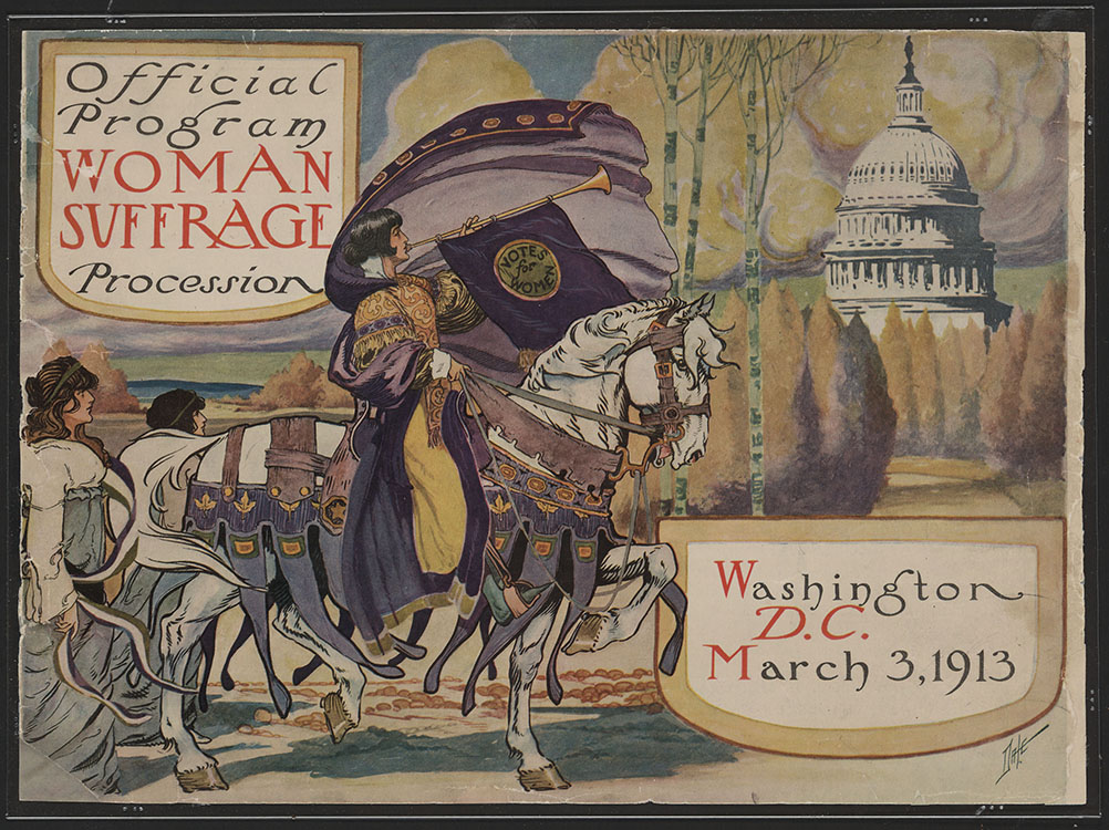 Official Program—Woman Suffrage Procession, cover illustration by Benjamin M. Dale, March 3, 1913. Facsimile image courtesy of Library of Congress