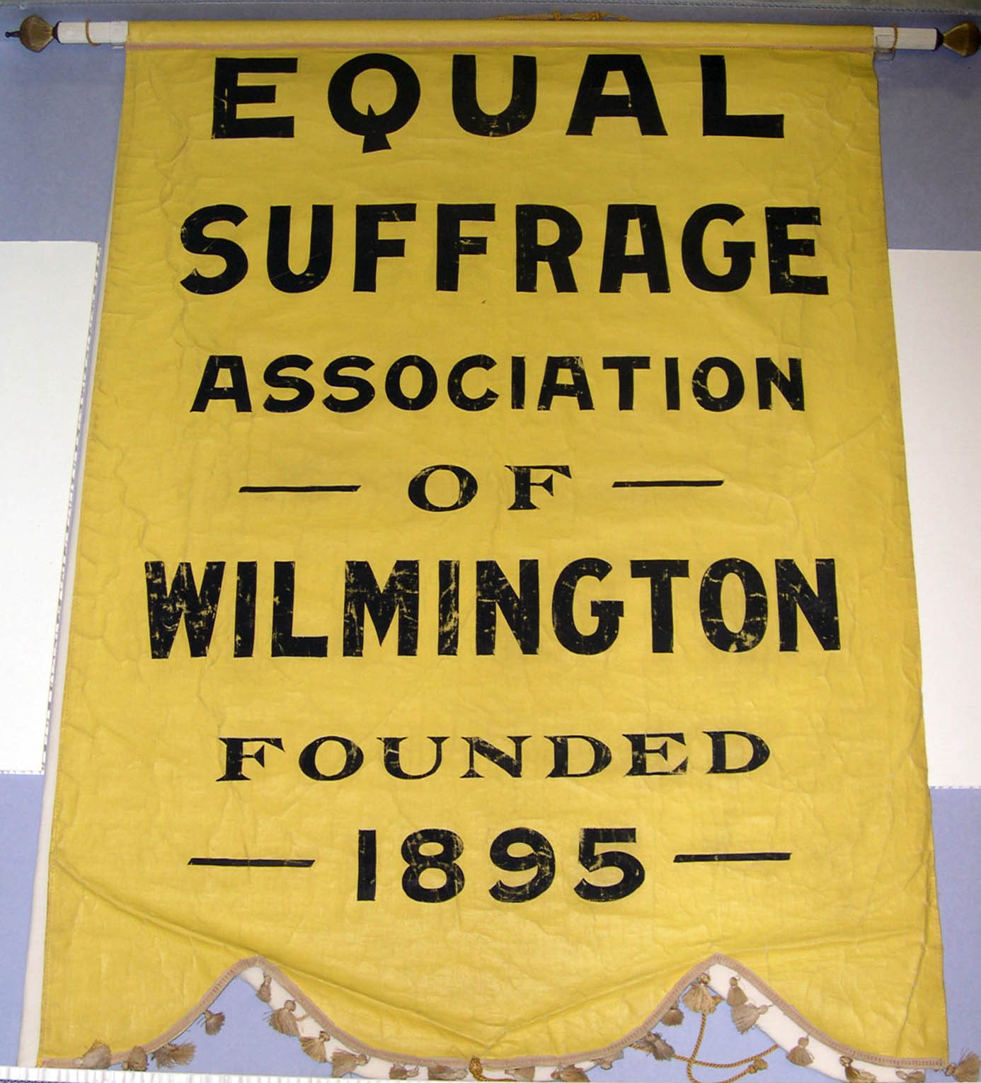 Wilmington Equal Suffrage Association Founded 1895 [banner], circa 1915