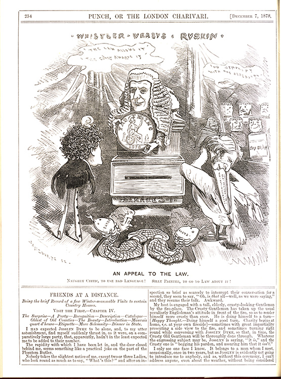 "Edward Linley Sambourne (British, 1845–1910). ""An Appeal to Law,"" in Punch, 7 December 1878. University of Delaware Library."