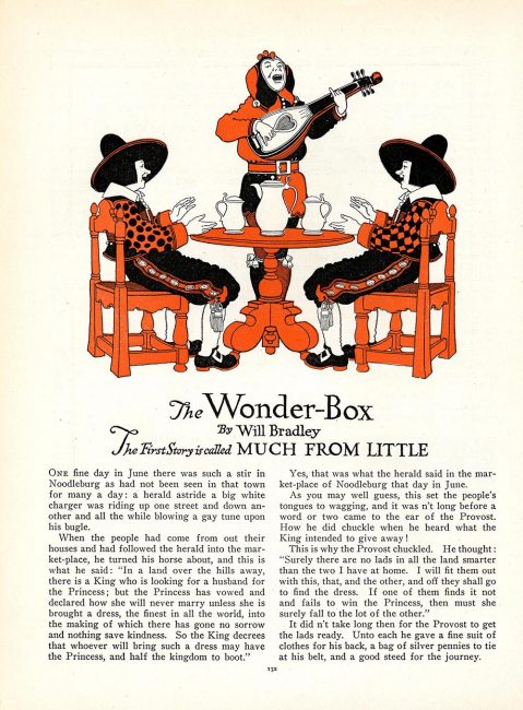 """""""Much From Little,"""" the first """"Wonder-Box Story,"""" St. Nicholas."""