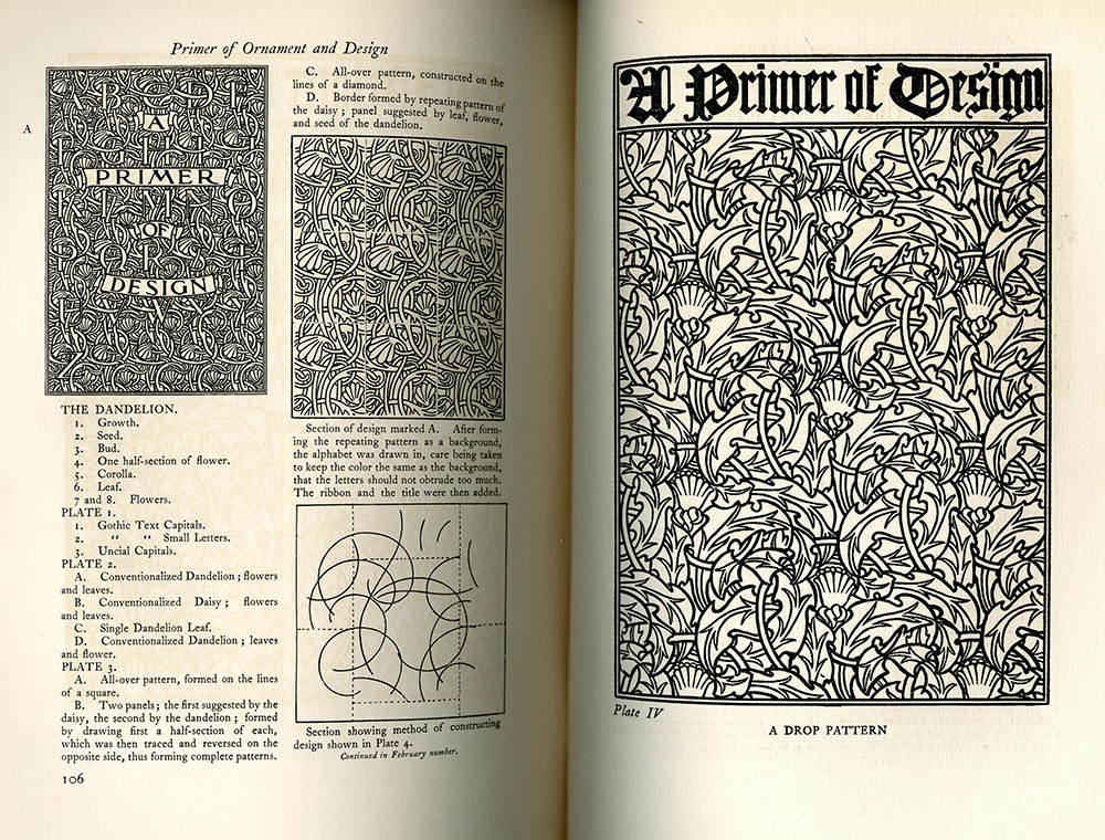 """Primer of Ornament and Design, Continuation of Second Paper,"" Vol. 2, No. 3, Bradley: His Book"