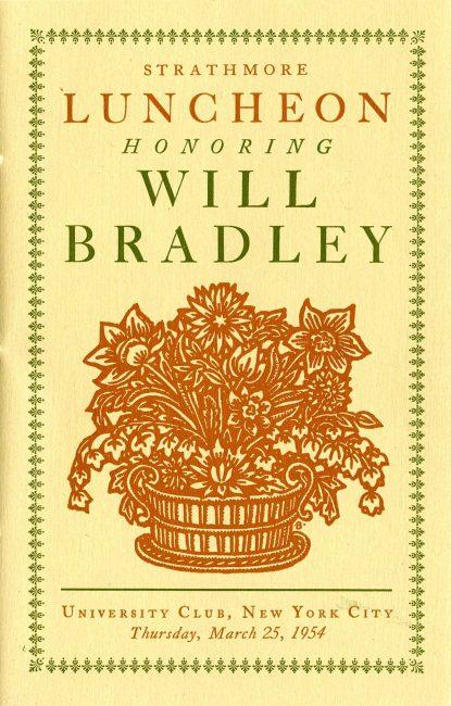 """""""Strathmore Luncheon Honoring Will Bradley,"""" program"""