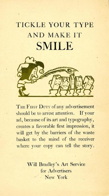 Advertising leaflet, Tickle Your Type and Make It Smile