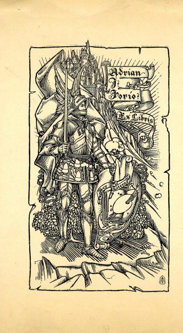 Bookplate, Adrian I. Iorio, Ex Libris