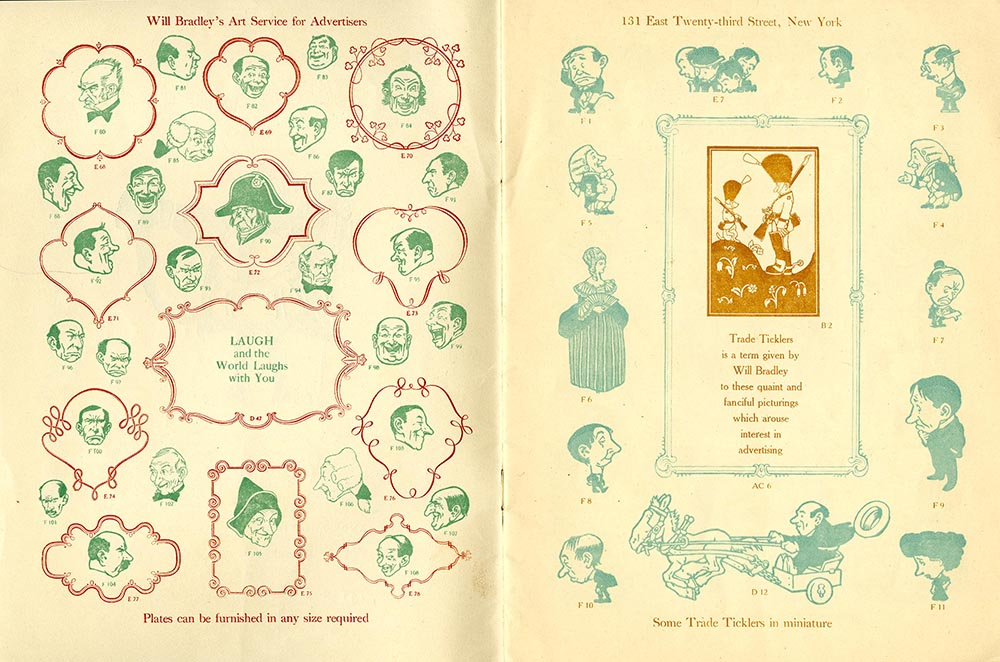 Catalog, Advance Showing of Designs from Will Bradley's Art Service for Advertisers