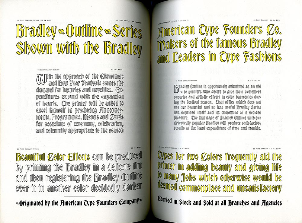 Catalog, American Type Fashions, Being a Few Specimens of Modern Types. The Inland Printer