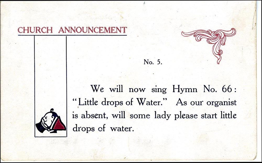 Church Announcement No. 5