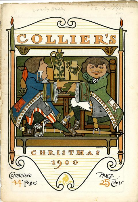 """Cover of Collier's Weekly. """"Christmas 1900"""""""