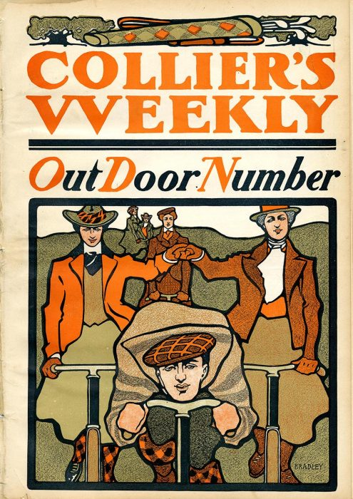 """Cover of Collier's Weekly. """"OutDoor Number,"""""""