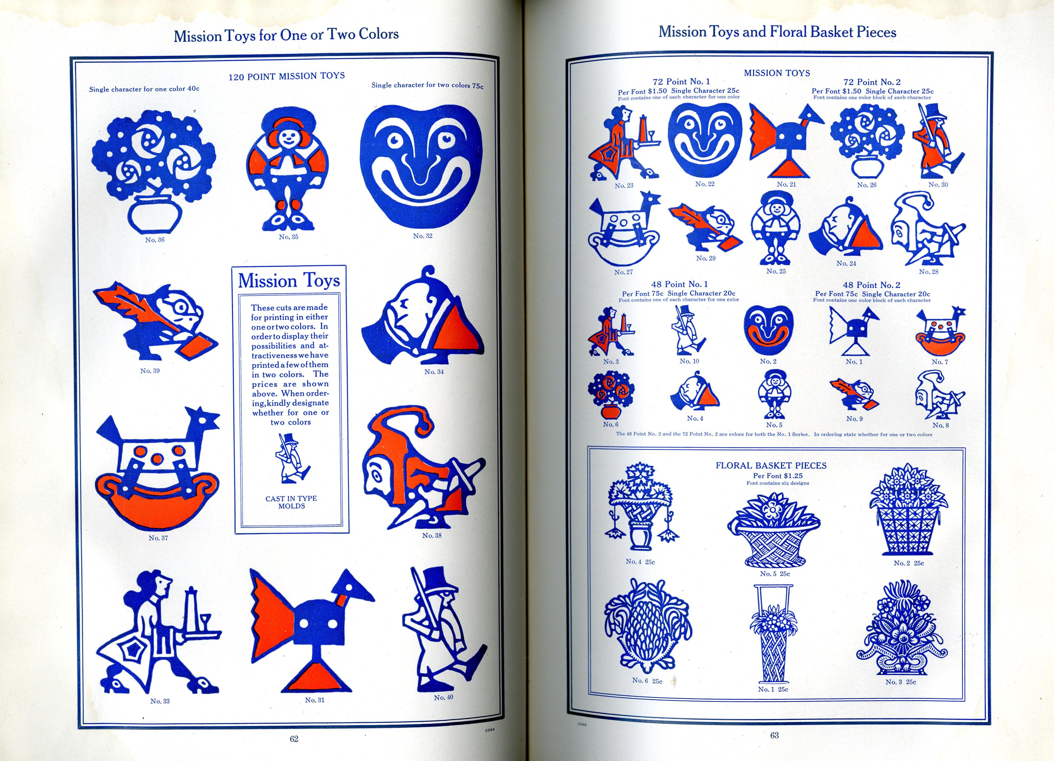 Decorative Materials, Borders, Ornaments and Initials