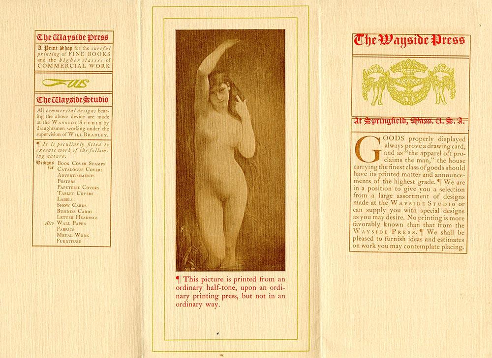 Prospectus, The Wayside Press at Springfield, Mass., U. S. A.