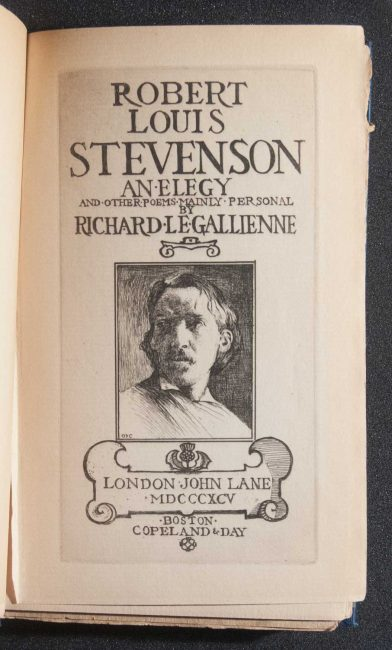Robert Louis Stevenson; an elegy, and other poems mainly personal