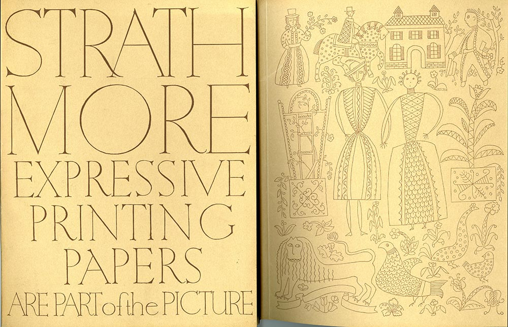 Strathmore Expressive Printing Papers are Part of the Picture portfolio with specimen sheets and enclosures