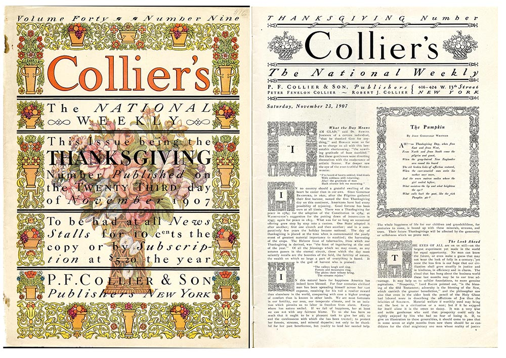 """Cover ofCollier's Weekly. """"Thanksgiving Number,"""""""