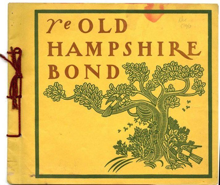 Ye Old Hampshire Bond [paper sample booklet]