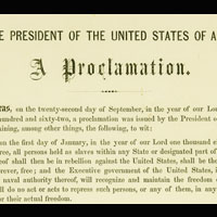 Emancipation Proclamation and Its Legacies (Archived)