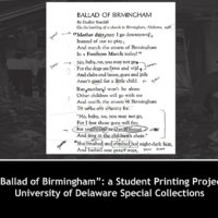 'Ballad of Birmingham': A Student Printing Project