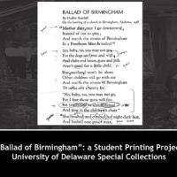 'Ballad of Birmingham': A Student Printing Project